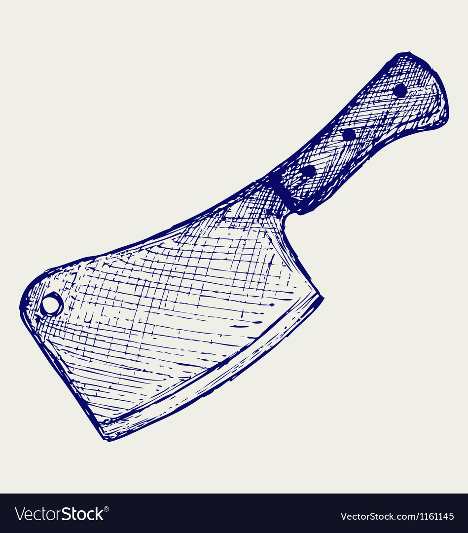 Meat cleaver knife vector | Price: 1 Credit (USD $1)