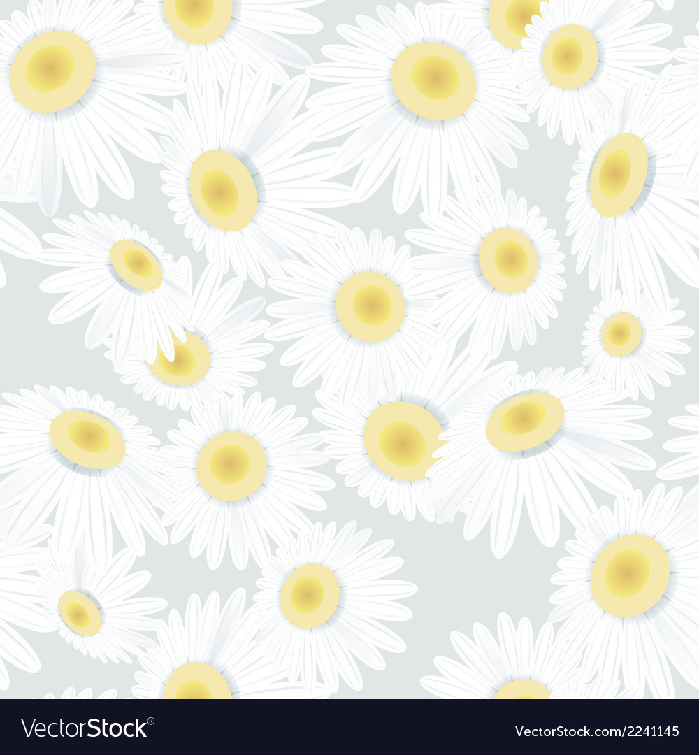 Seamless camomiles on light eps 10 vector | Price: 1 Credit (USD $1)