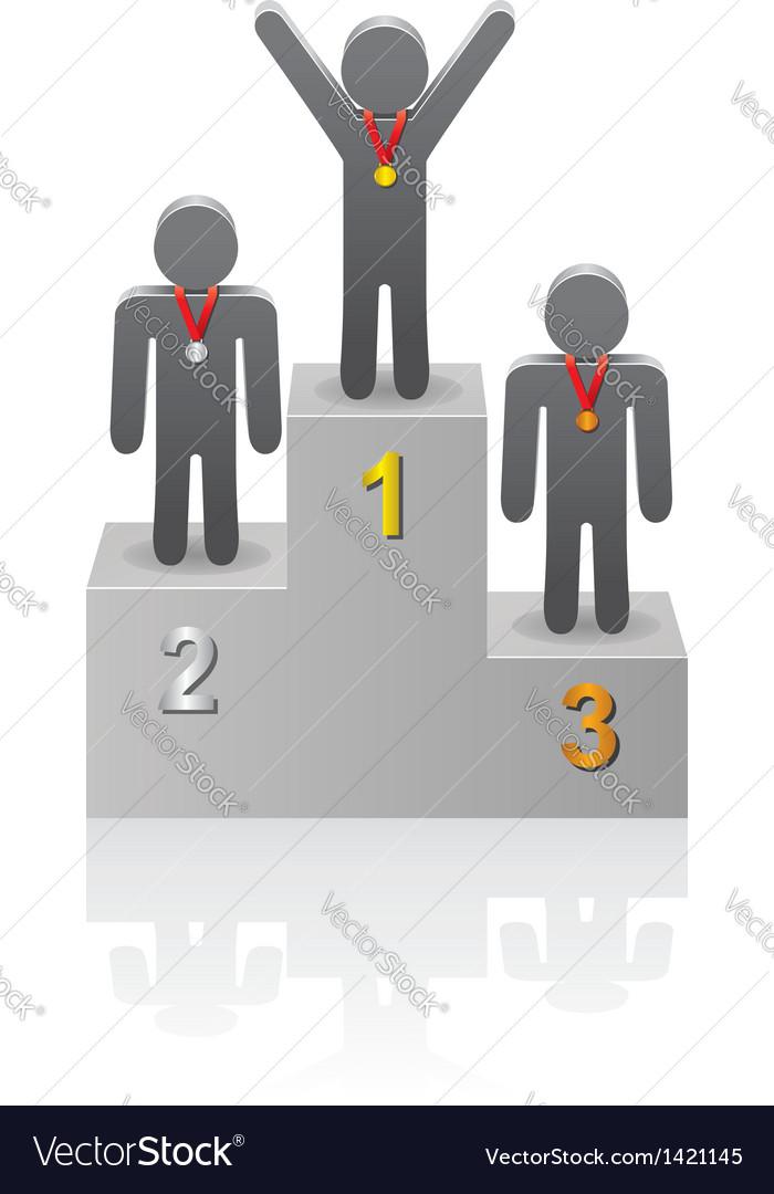 Winners on the podium vector | Price: 1 Credit (USD $1)