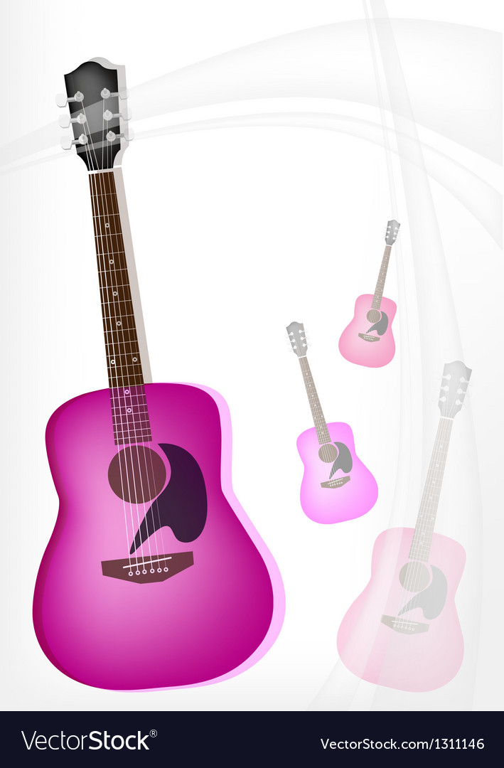A pink guitar on modern elegance background vector | Price: 1 Credit (USD $1)