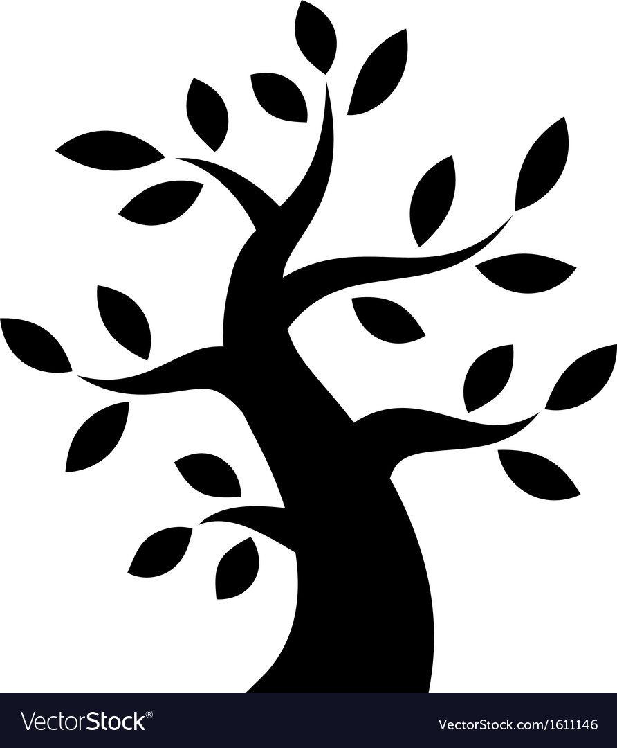 Black bold tree icon vector | Price: 1 Credit (USD $1)