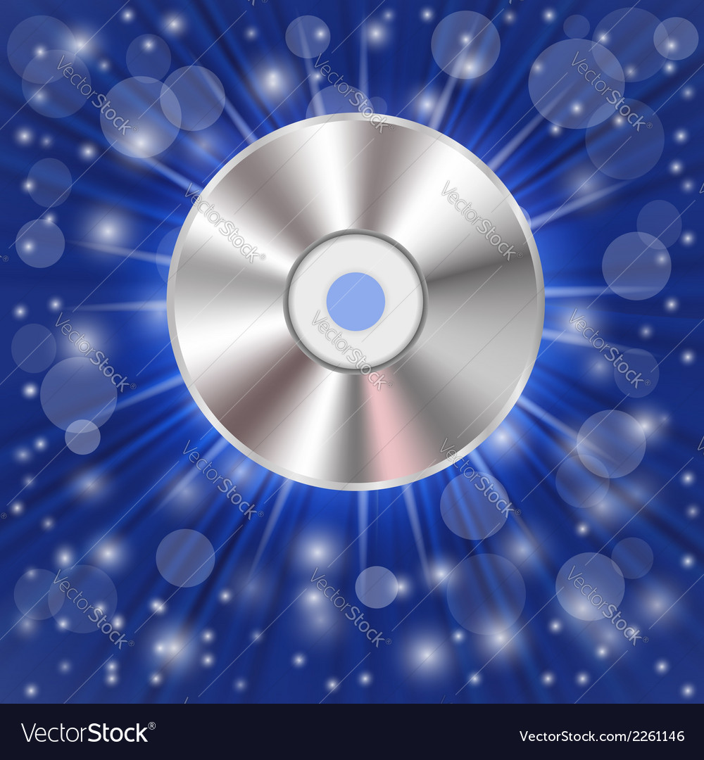 Cd on a blue background vector | Price: 1 Credit (USD $1)