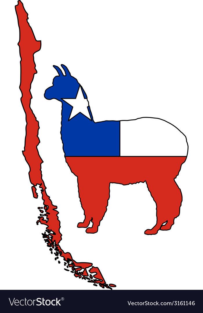 Chilean alpaca vector | Price: 1 Credit (USD $1)