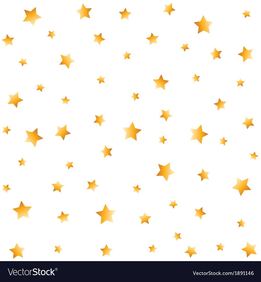 Gold stars seamless background vector | Price: 1 Credit (USD $1)