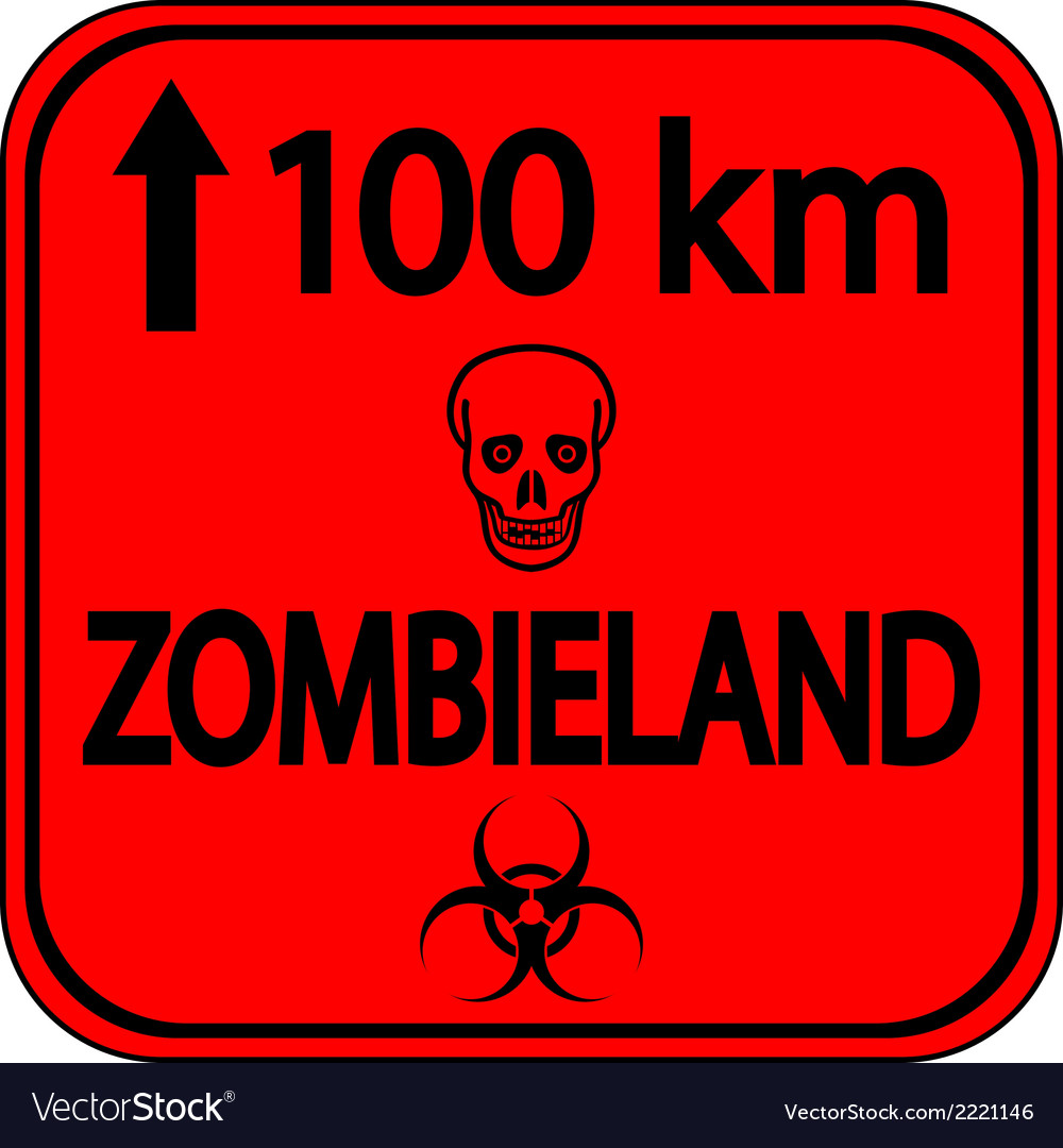 Road sign zombieland vector | Price: 1 Credit (USD $1)