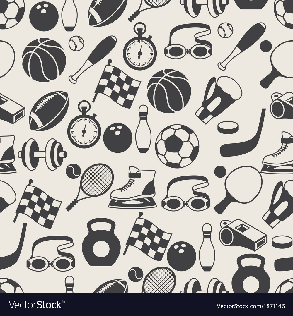Seamless pattern of sport icons vector | Price: 1 Credit (USD $1)