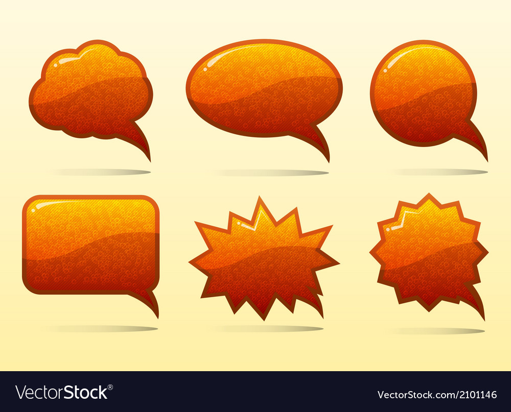 Set of glass speech bubbles vector   Price: 1 Credit (USD $1)