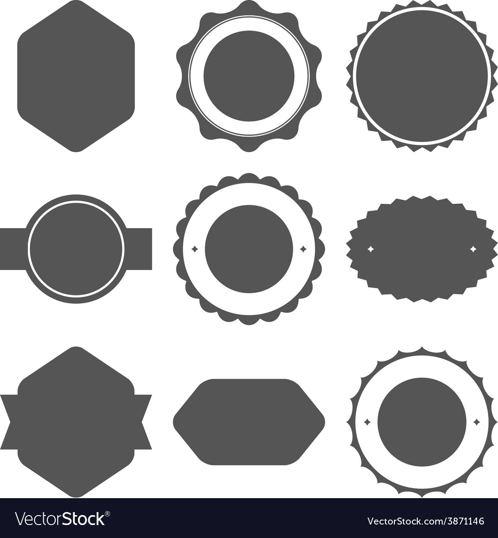 Set of vintage frames for emblems labels insignia vector | Price: 1 Credit (USD $1)