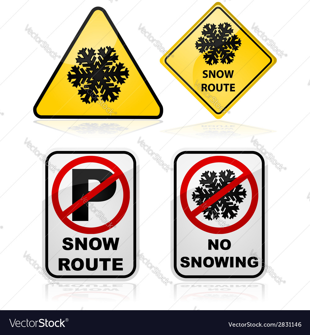 Snow route signs vector | Price: 1 Credit (USD $1)