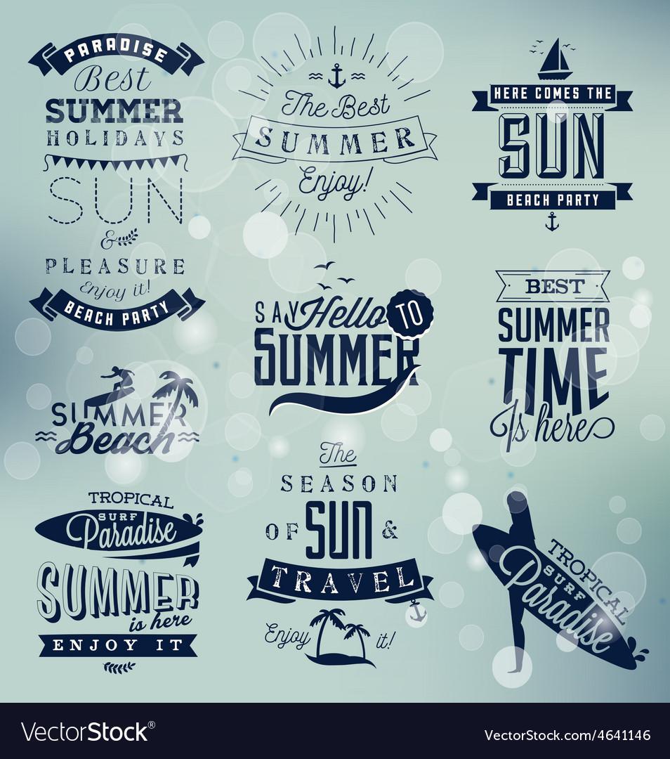 Summer beach calligraphy design elements vector | Price: 1 Credit (USD $1)