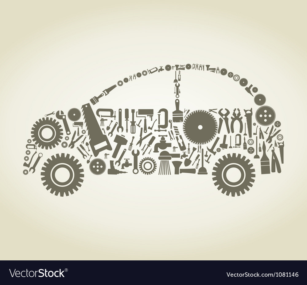 Tool the car vector | Price: 1 Credit (USD $1)