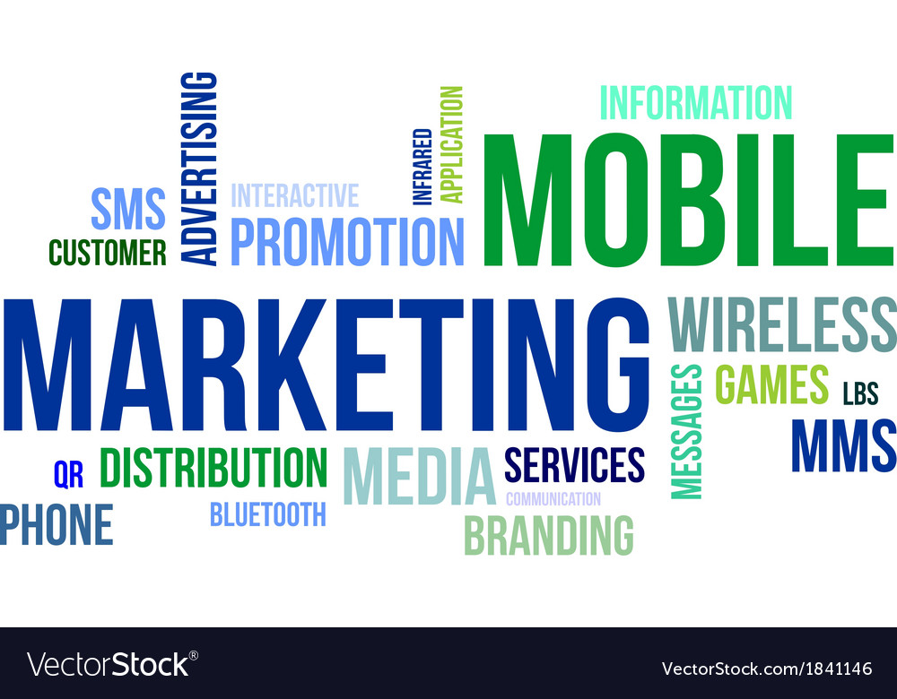 Word cloud mobile marketing vector | Price: 1 Credit (USD $1)