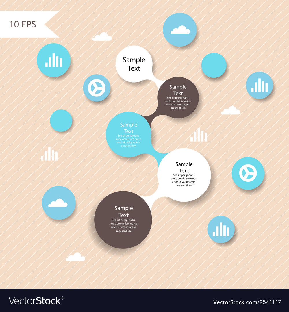 Colorful metaball round diagram infographics vector | Price: 1 Credit (USD $1)