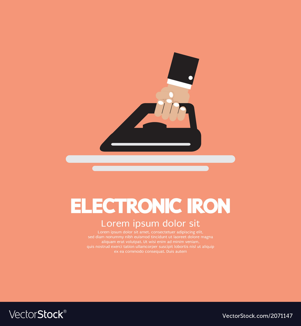 Electronic iron in hand vector | Price: 1 Credit (USD $1)