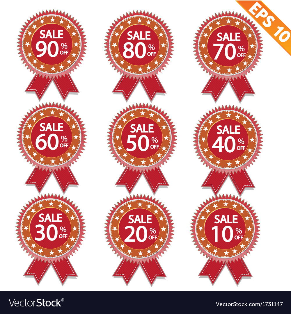 Label stitch sale tag - - eps10 vector | Price: 1 Credit (USD $1)