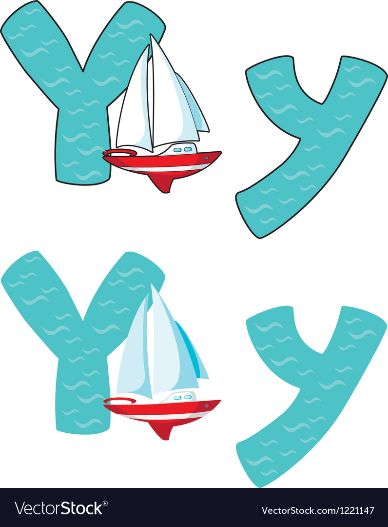 Letter y yacht vector | Price: 1 Credit (USD $1)