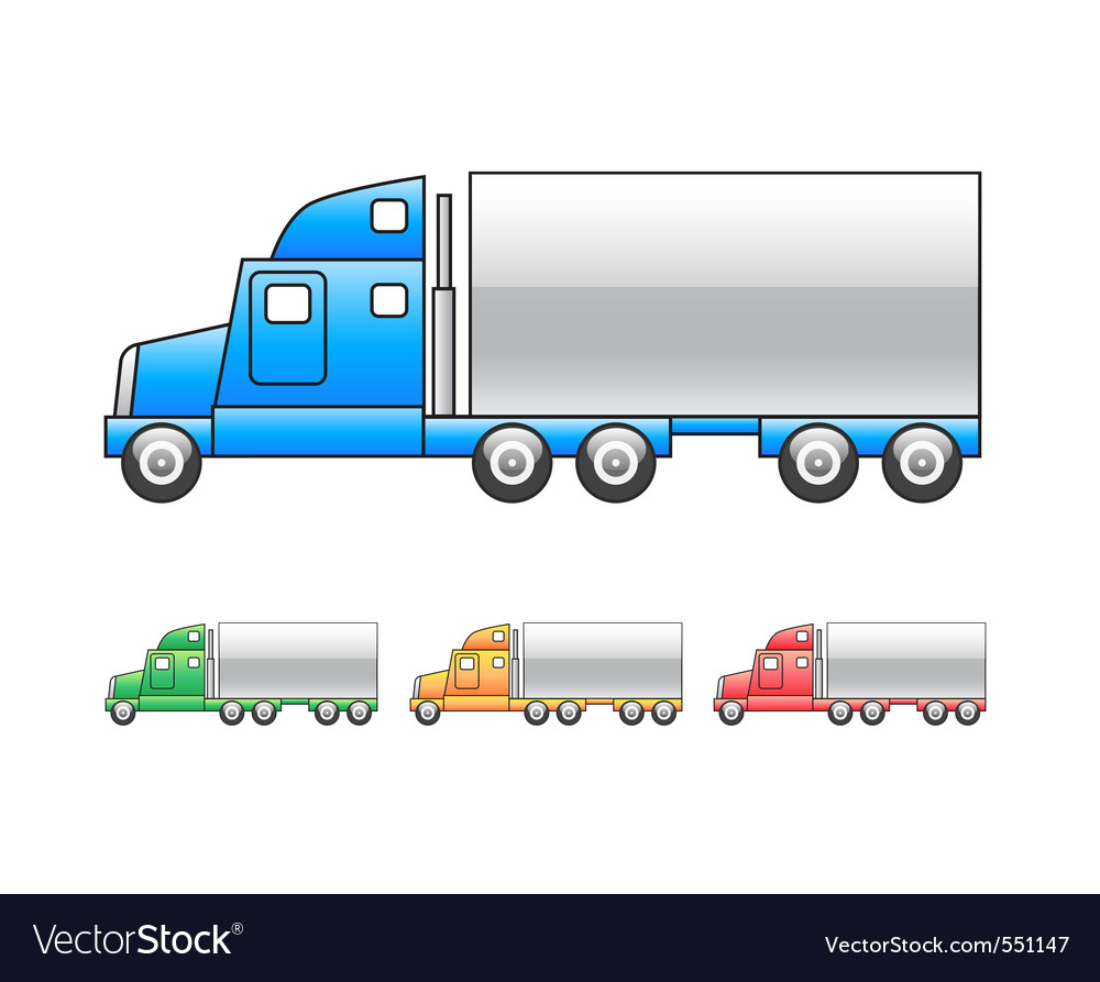 Lorry  mac truck icon vector | Price: 1 Credit (USD $1)