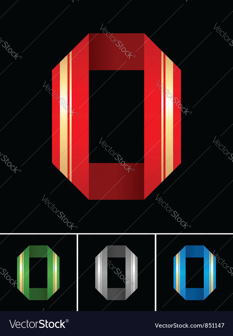 Numeral of paper tape - 0 vector | Price: 1 Credit (USD $1)