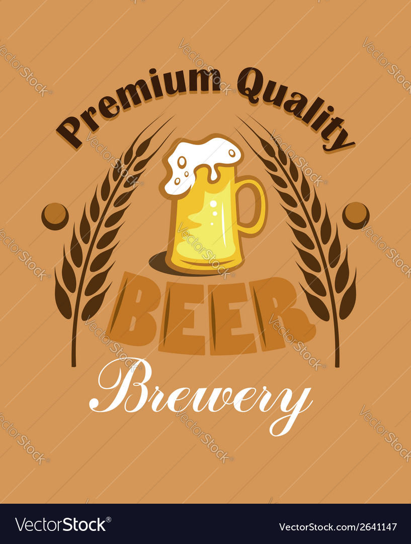 Premium quality beer - brewery label vector | Price: 1 Credit (USD $1)