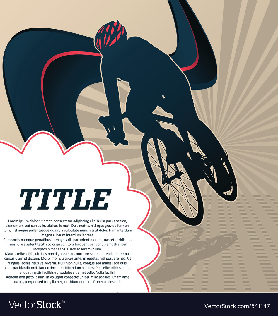 Sport template poster cycling vector | Price: 1 Credit (USD $1)