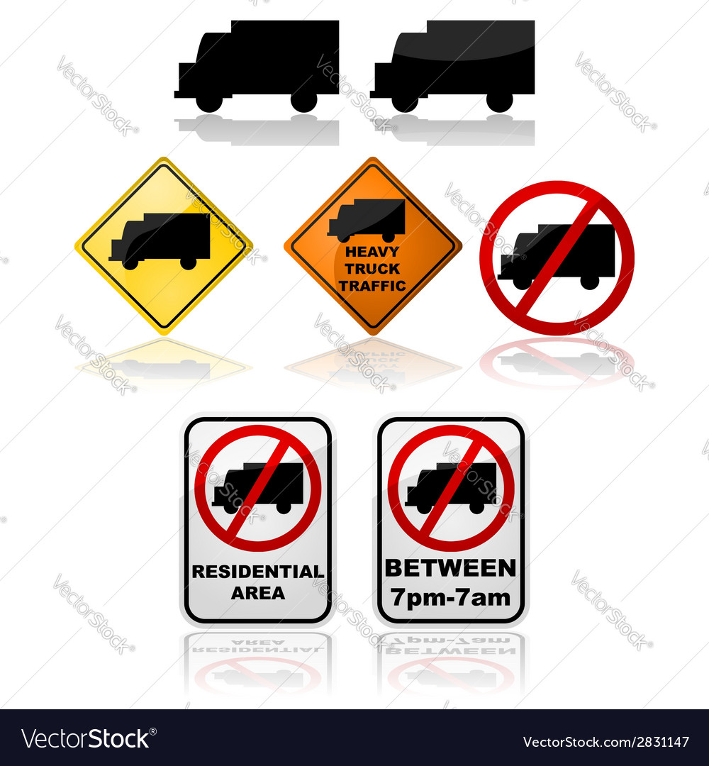 Truck signs vector | Price: 1 Credit (USD $1)