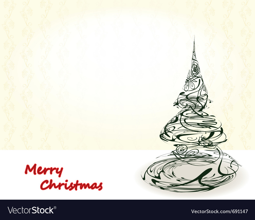 Vintage xmas card vector | Price: 1 Credit (USD $1)