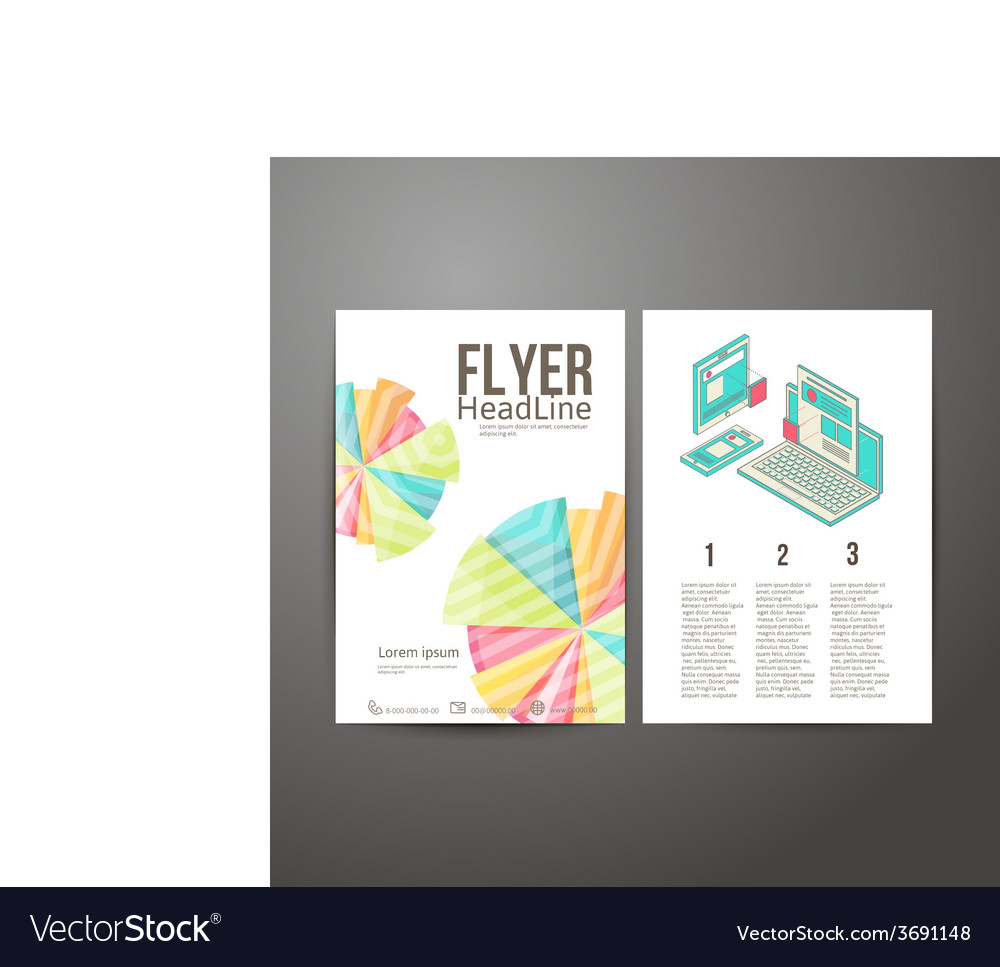 Abstract brochure flyer design mobile and desktop vector | Price: 1 Credit (USD $1)