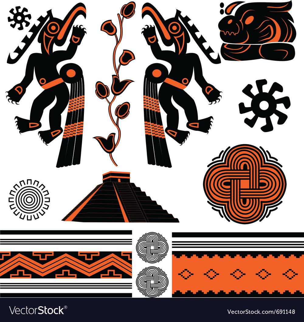 Ancient american ornaments vector | Price: 1 Credit (USD $1)