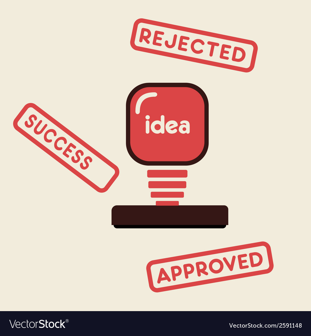 Approved rejected success stamp vector | Price: 1 Credit (USD $1)
