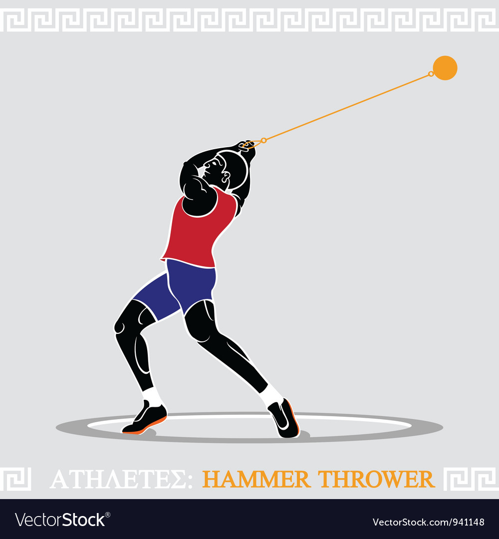 Athlete hammer thrower vector | Price: 3 Credit (USD $3)