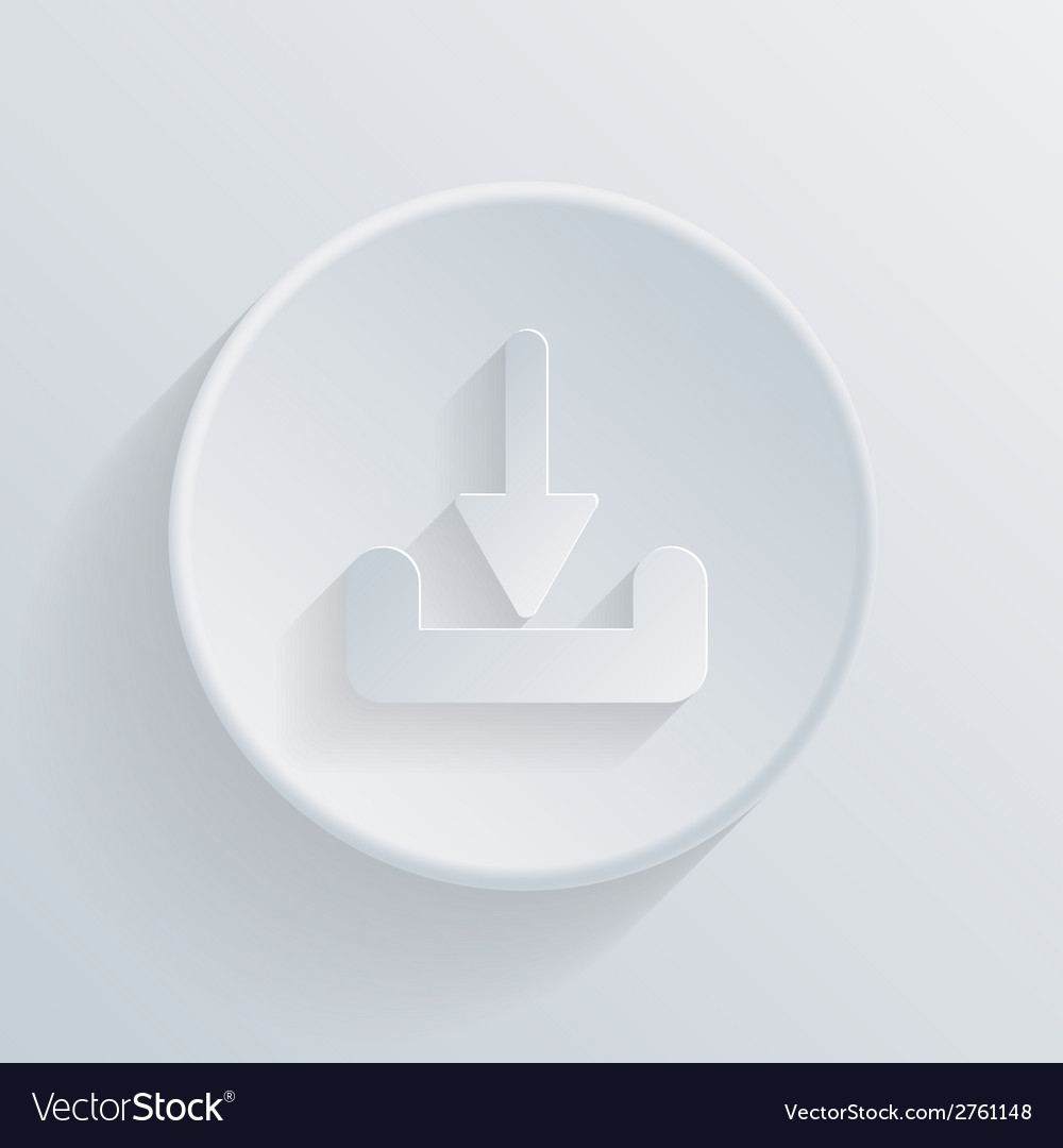 Circle icon with a shadow download vector | Price: 1 Credit (USD $1)