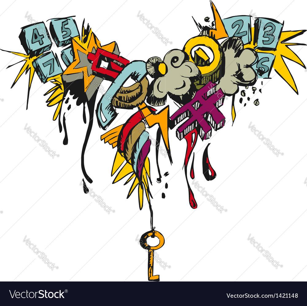 Colorful grunge grafitti vector | Price: 1 Credit (USD $1)