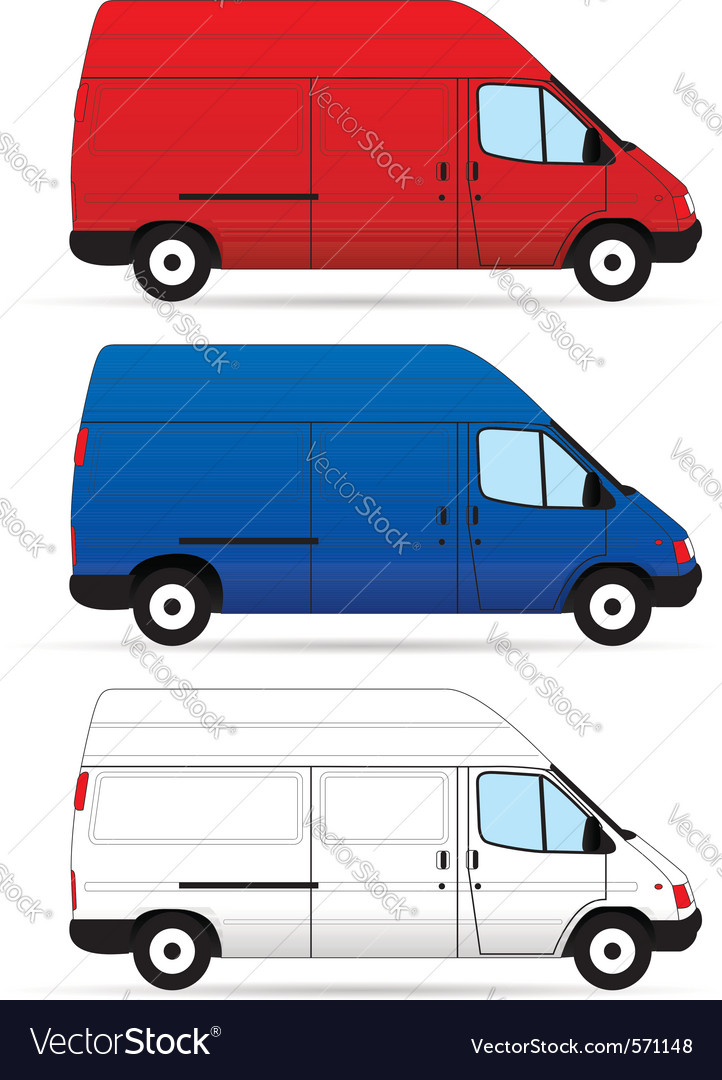 Delivery vans vector | Price: 1 Credit (USD $1)