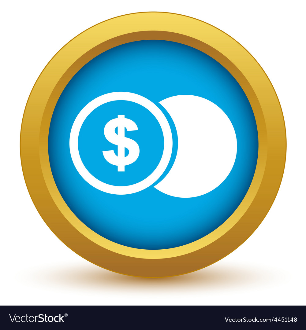 Gold dollar coin icon vector | Price: 1 Credit (USD $1)
