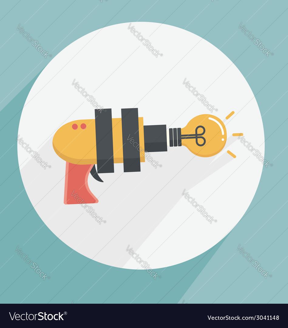 Gun ideas icon vector | Price: 1 Credit (USD $1)