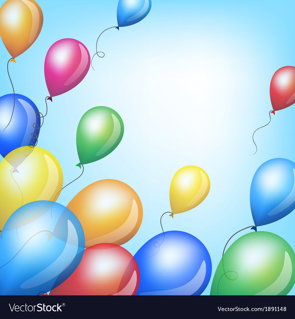 Holiday backgrounds with balloons vector | Price: 1 Credit (USD $1)