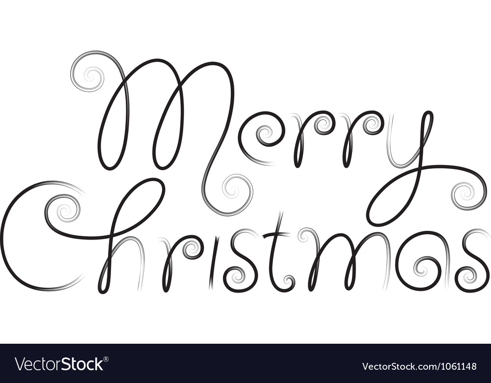Merry christmas hand lettering vector   Price: 1 Credit (USD $1)