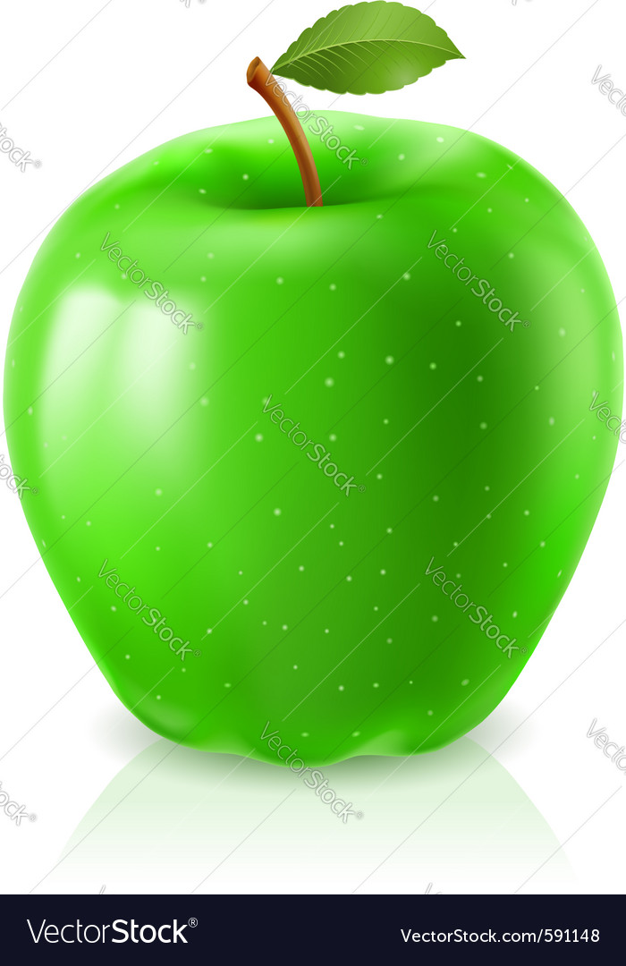 Ripe green apple vector | Price: 1 Credit (USD $1)