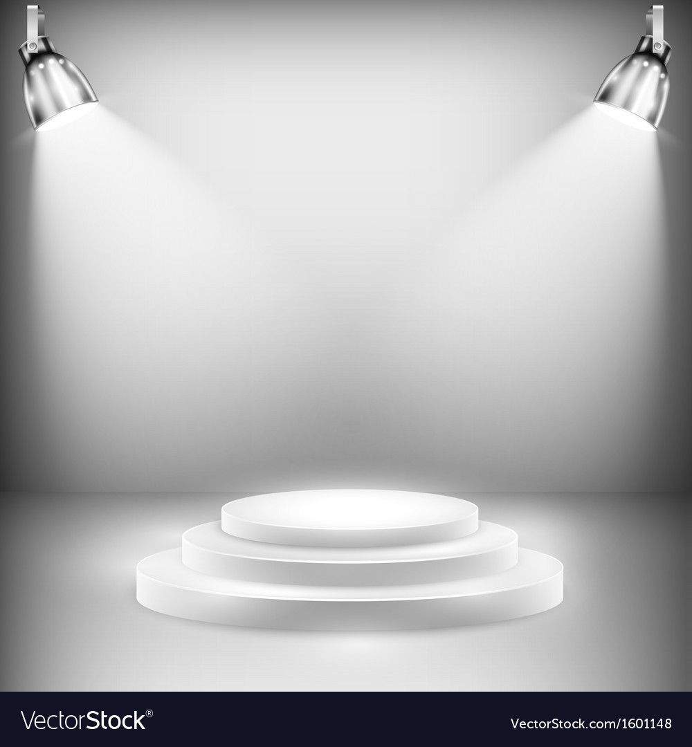 Shiny stage illuminated by spotlights vector | Price: 1 Credit (USD $1)
