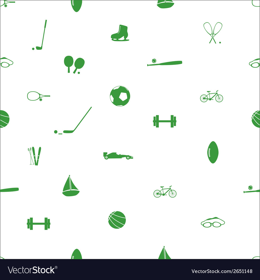 Sport equipment pattern eps10 vector | Price: 1 Credit (USD $1)