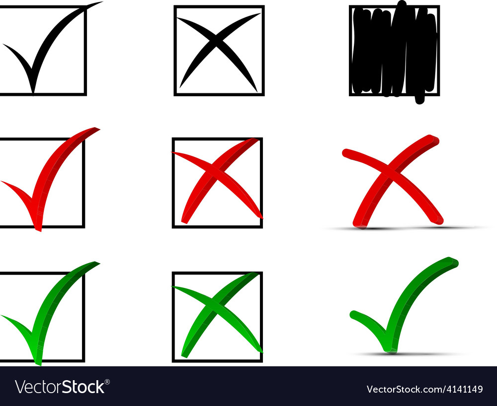 Check marks vector   Price: 1 Credit (USD $1)