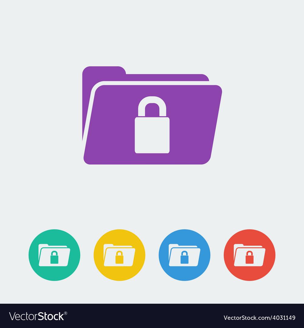 Folder lock flat circle icon vector   Price: 1 Credit (USD $1)