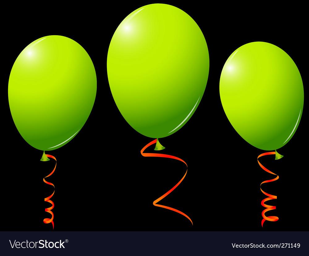 Green balloons vector | Price: 1 Credit (USD $1)