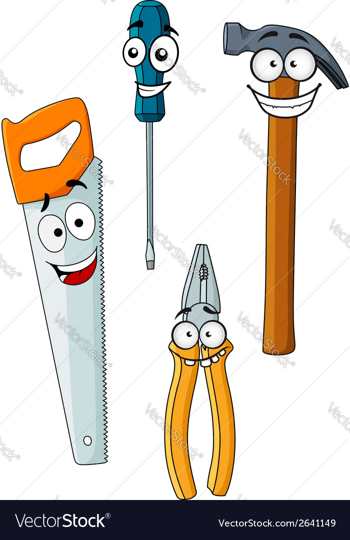 Happy and joyful work tools vector | Price: 1 Credit (USD $1)