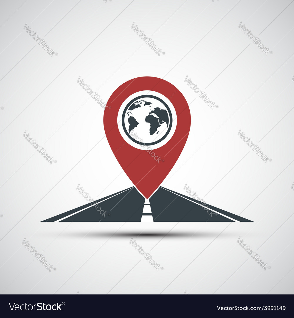 Icon pointer location on the road vector | Price: 1 Credit (USD $1)