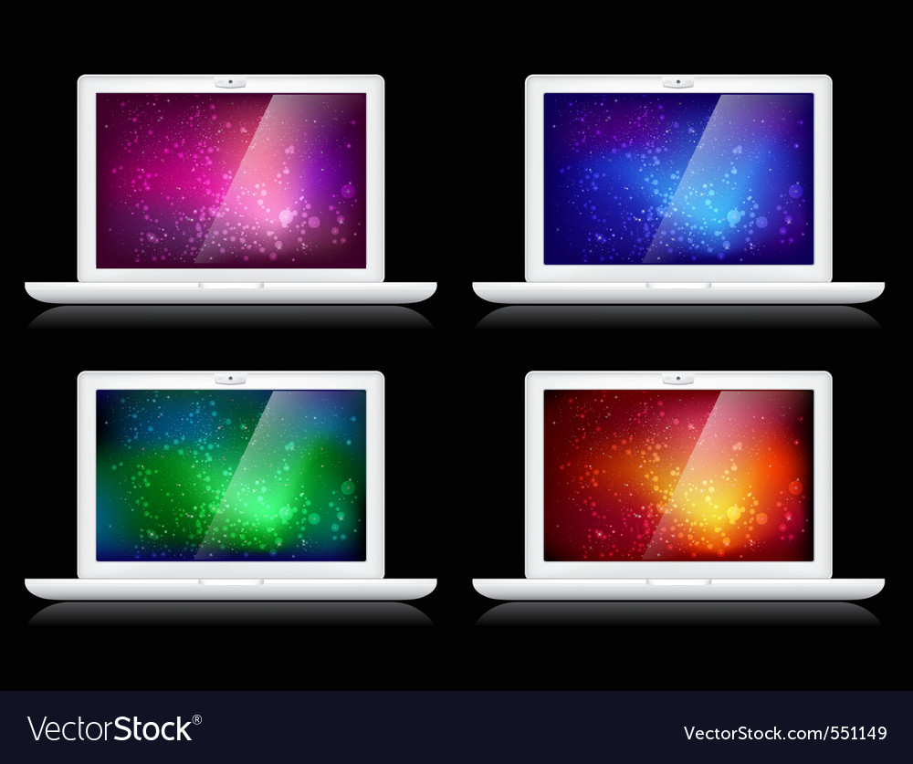 Laptops and backgrounds vector | Price: 1 Credit (USD $1)