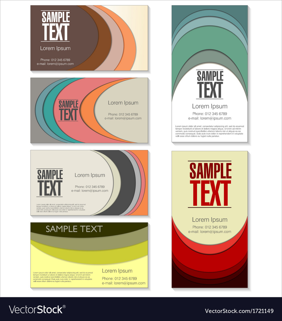 Modern colorful business card set vector | Price: 1 Credit (USD $1)