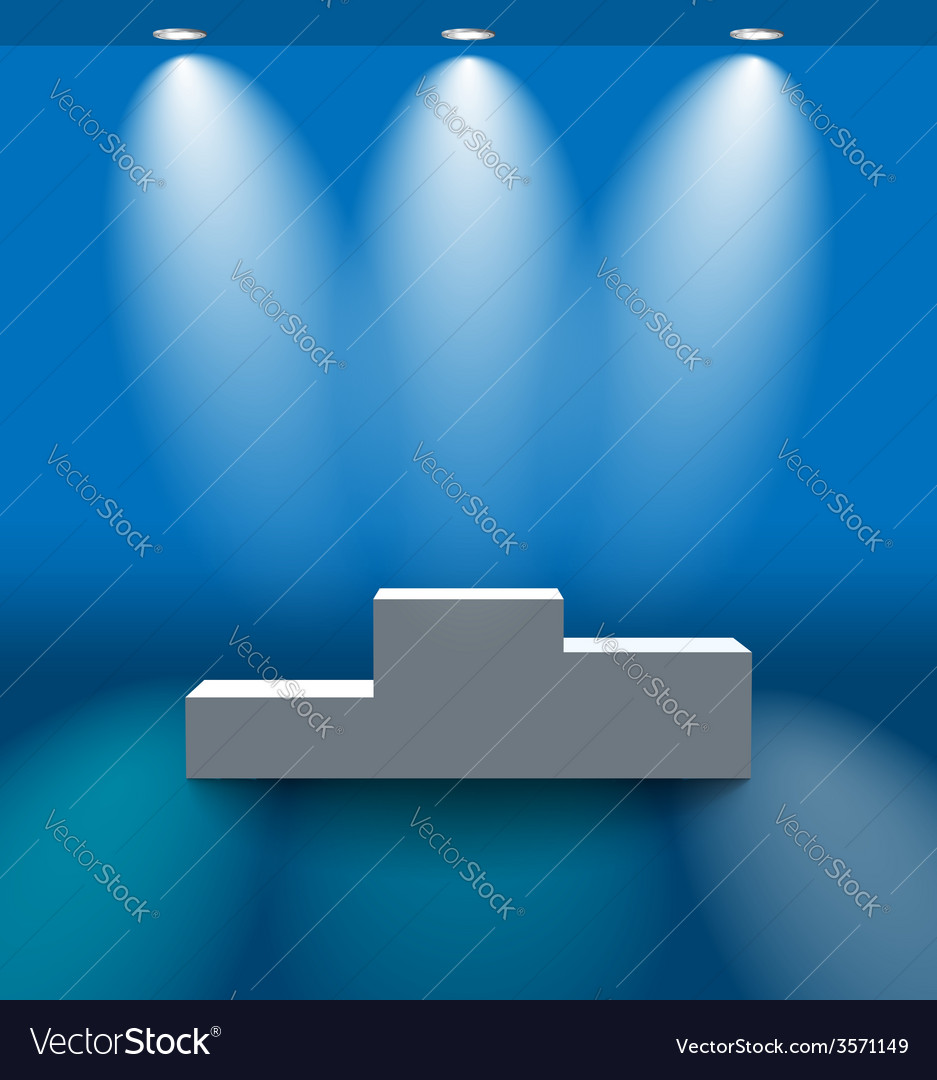 Pedestal in the blue room vector | Price: 1 Credit (USD $1)