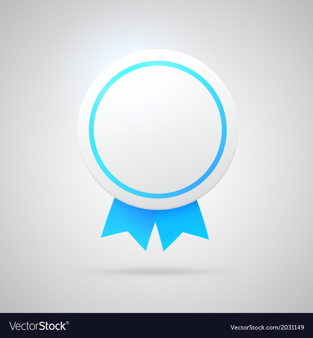 Round award with blue ribbons vector | Price: 1 Credit (USD $1)