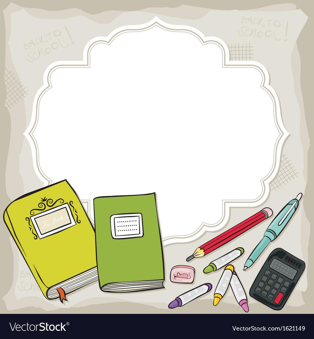 School stationery vector | Price: 1 Credit (USD $1)
